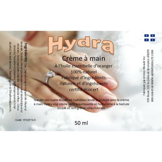 Crème à mains Hydra (Odeur D'oranger)