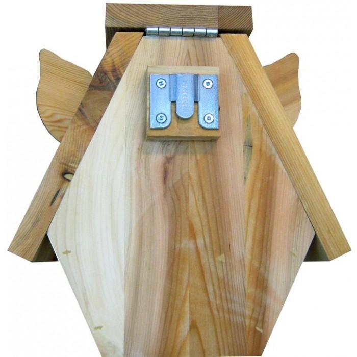 maisonnette pour oiseaux en forme de cochon atelier au tour du bois. Black Bedroom Furniture Sets. Home Design Ideas