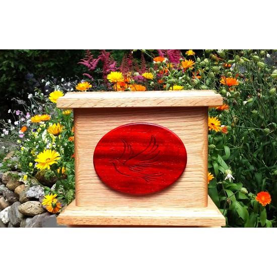 urne en bois de ch ne avec m daillon en bois de padouk atelier au tour du bois. Black Bedroom Furniture Sets. Home Design Ideas
