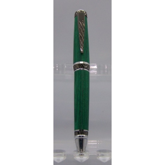 Ultra Cigar stylo frêne teint vert fini chrome...