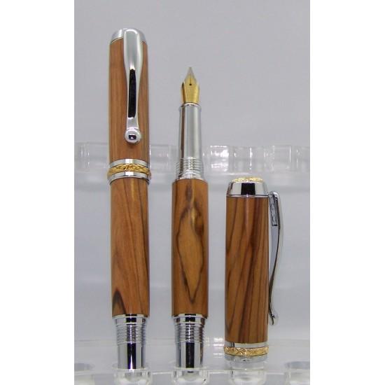 Ensemble stylo et plume Triton olivier de...