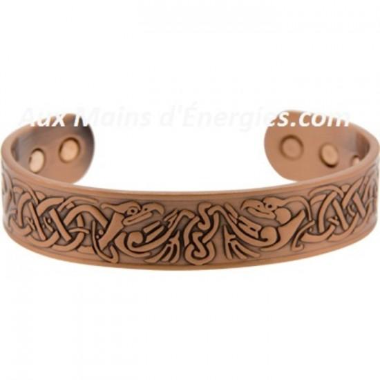 Bracelet en cuivre et magnétique - Phoenix