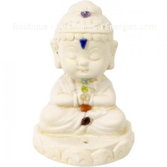 Bouddha gypse - Statue avec Chakra