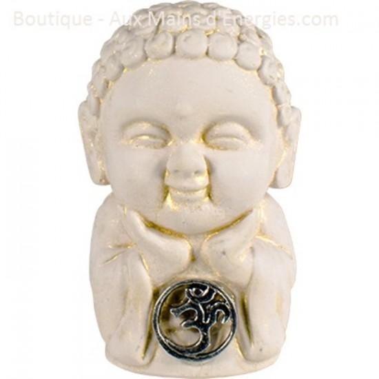 Bouddha gypse - Om