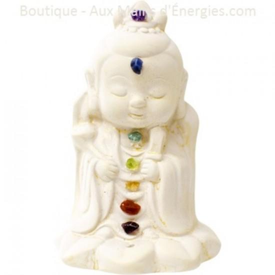 Bouddha gypse - Chakra Yin
