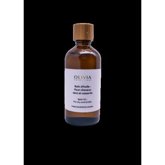 Bain d'huile pour cheveux secs et cassants