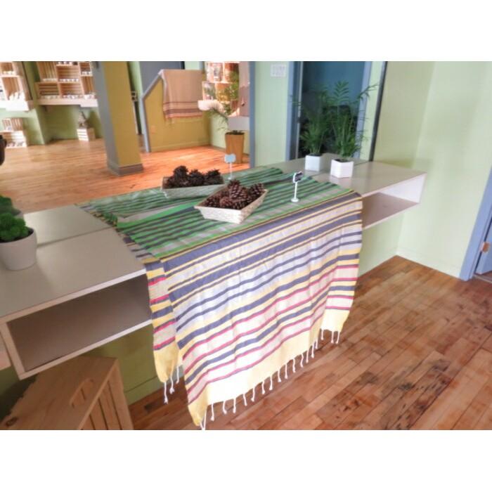 Serviette de Bain - Drap de plage - Jeté de lit en coton naturel