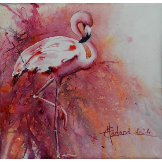 Foulard soie - Rose