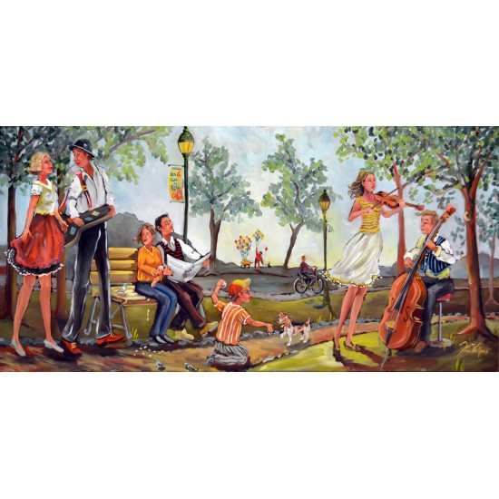 Foulard soie - Un air de fête