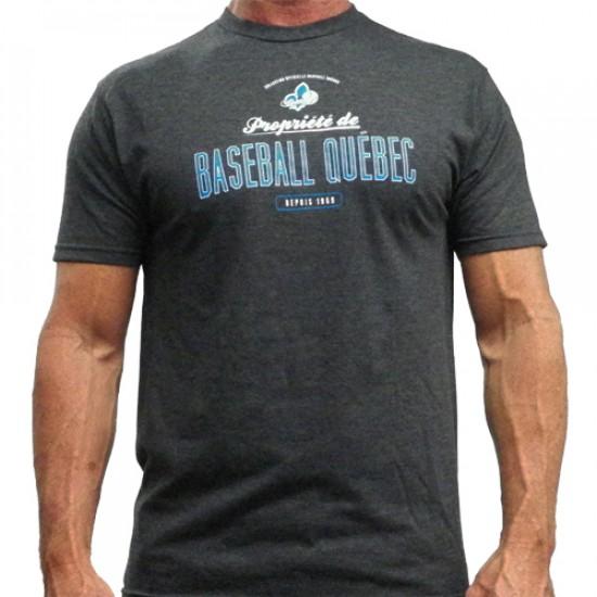T-shirt propriété de Baseball Québec gris...