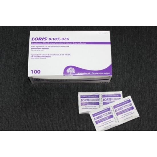 Tampons antiseptiques de chlorure de benzalkonium...