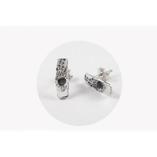 BO52-Boucles d'oreilles barre rectangle fixe avec...