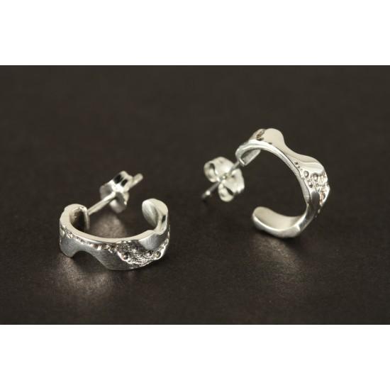 Boucles d'oreilles anneaux en argent sterling de...