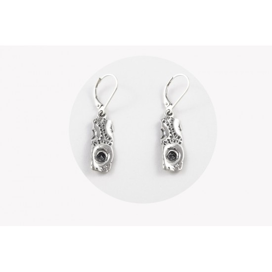 Boucles d'oreilles rectangle pendante en argent...