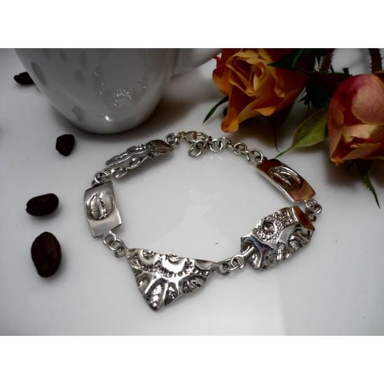 Bracelet en argent sterling original avec mailles...