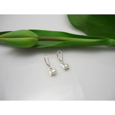 Boucles d'oreilles en argent sterling avec perle...