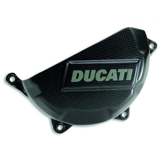 Couvert d'embrayages usagé en Carbone Ducati