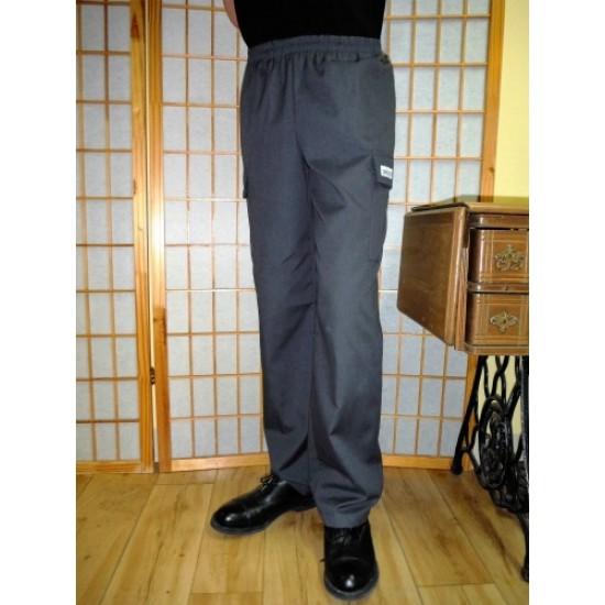 Pantalon taille élastique pour hommes, poches...