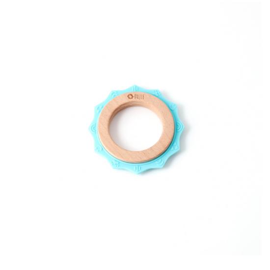 Hochet Soleil- Bleu pâle