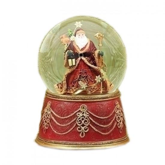 Père Noël Victorien Boule à Neige Musicale