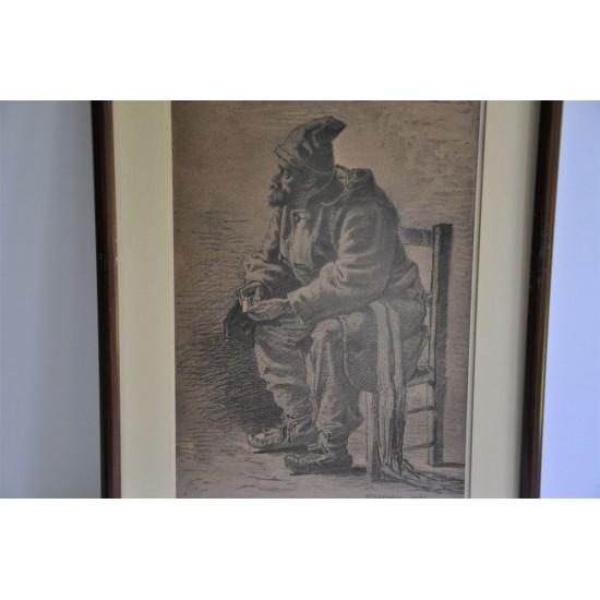 Lithographie «L'habitant » par William Raphaël,...