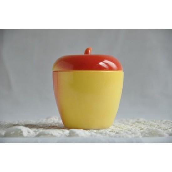 Pot Hazel Atlas en forme de pomme en verre milk...