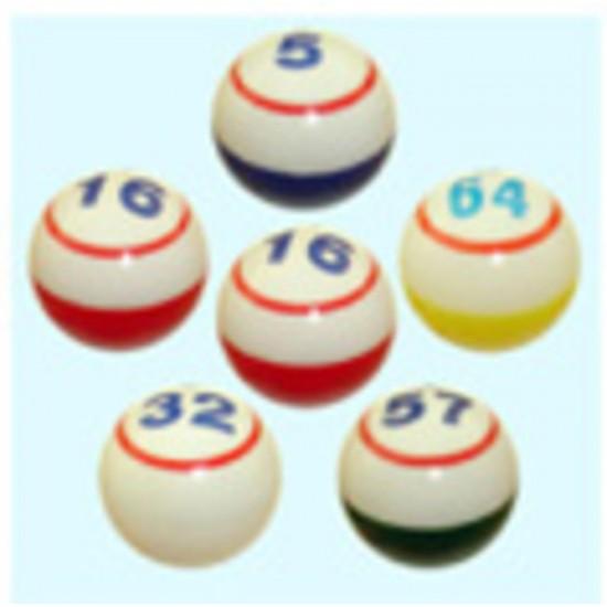 Boules de Bingo 1 chiffre