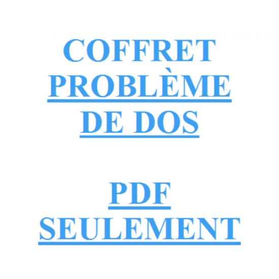 COFFRET PROBLÈME DE DOS PDF SEULEMENT