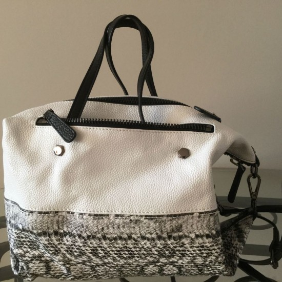 Sac à main transformable en cuir - Blanc