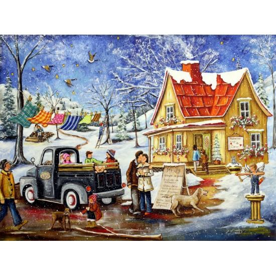 Cartes paquet 12 - 004 hiver (frais de livraison...