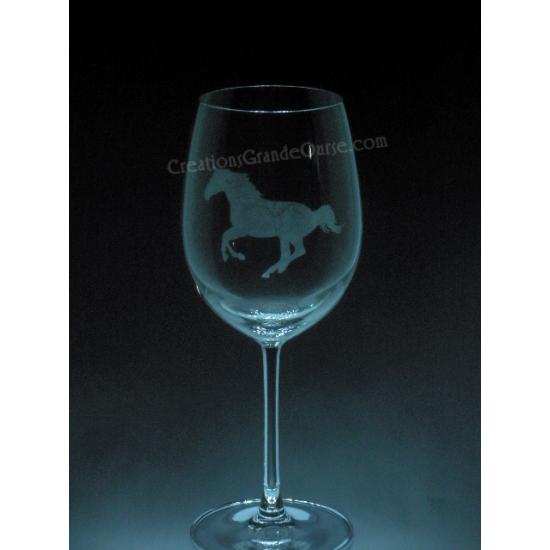 ANI-CV-Cheval de course - 1 verre - prix basé sur...