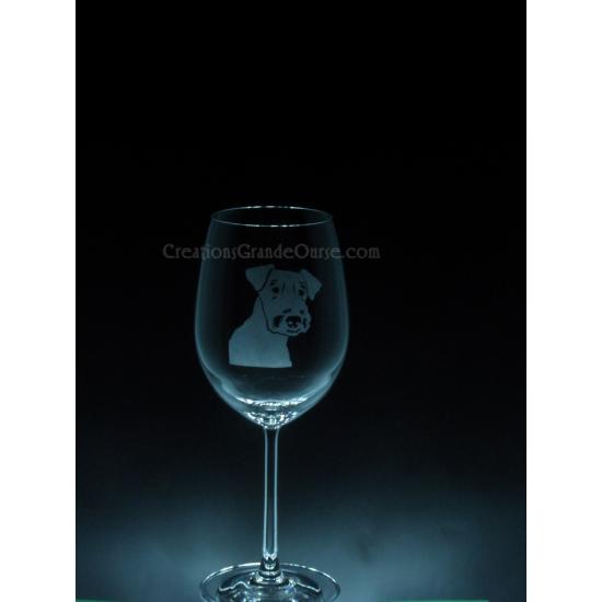 ANI-CK-Chien de race Airdale - 1 verre - prix...