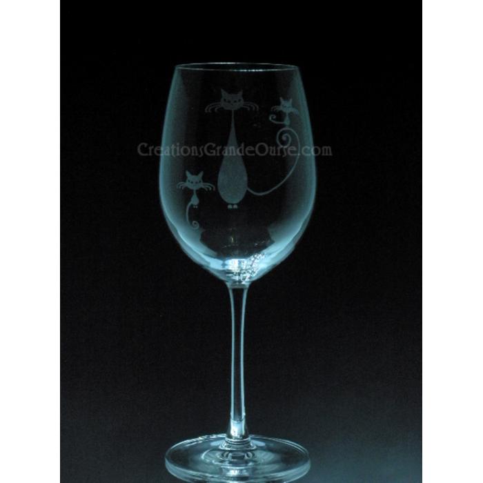 verre vin grav avec design chats cr ations grande ourse gravure sur verre. Black Bedroom Furniture Sets. Home Design Ideas