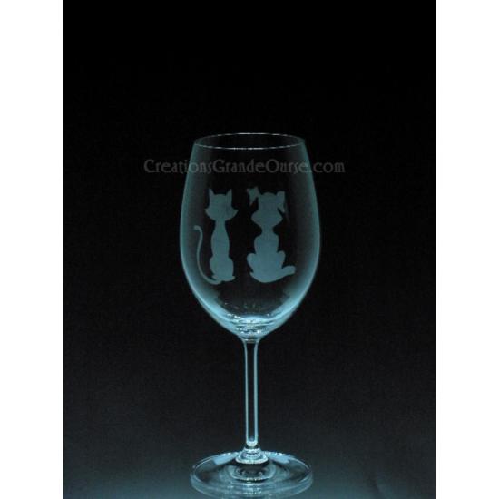 ANI-CK-Chien chat silhouette - 1 verre - prix...