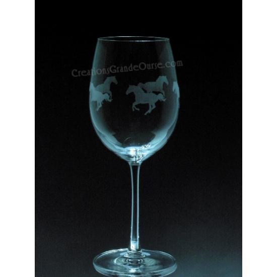 ANI-CV-Cheval de course tout le tour - 1 verre -...