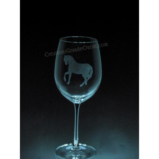 ANI-CV-Cheval équestre - 1 verre - prix basé sur...