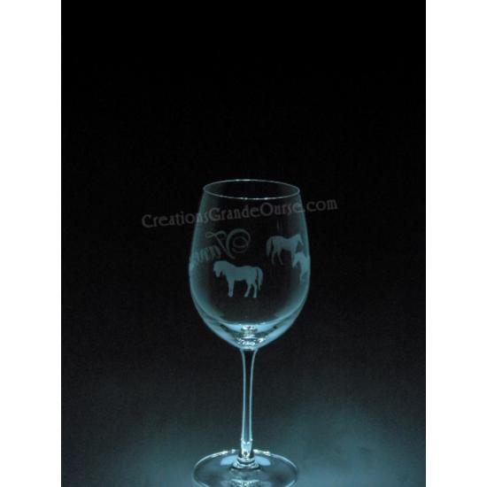 ANI-CV-PERSO-chevaux tout le tour et nom- 1 verre...