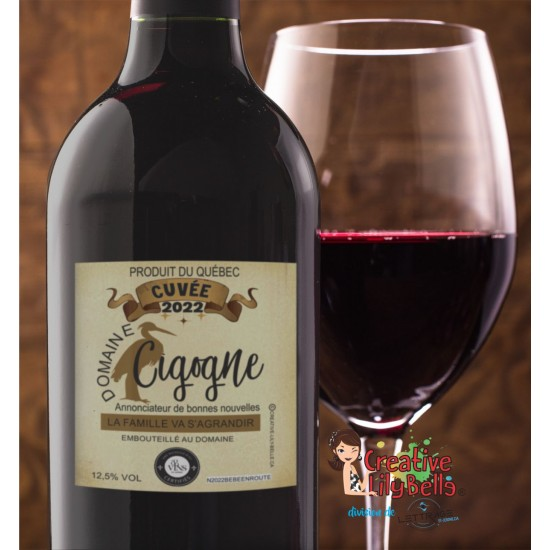 annonce grossesse vin cigogne