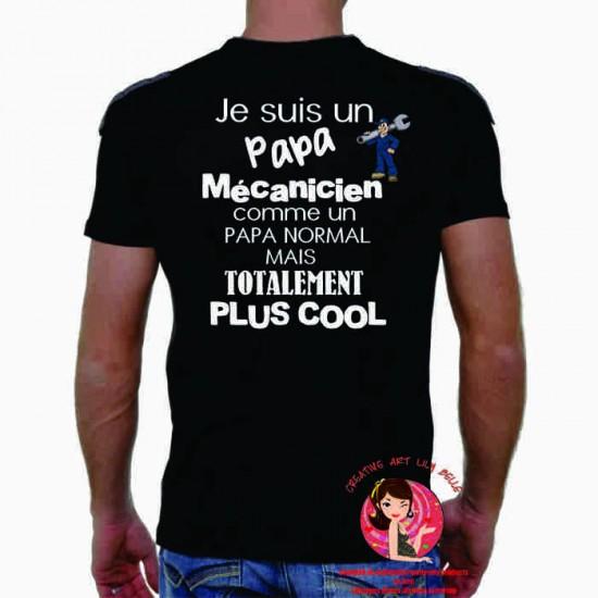 T-SHIRT PAPA , parrain, papy, MECANICIEN 4082
