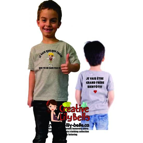 cache-couche t-shirt GRAND-FRÈRE deux cotés 3163