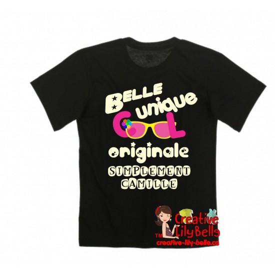 t-shirt simplement prénom fille 3182