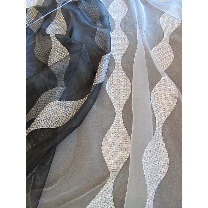 voilage d coratif brod en 280 cm fait de polyester voile. Black Bedroom Furniture Sets. Home Design Ideas