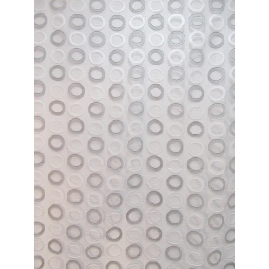 RONDS voilage brodé - 290 cm - 100% polyester -...