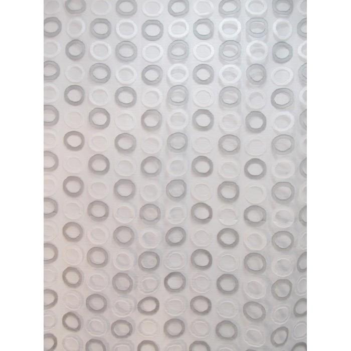 voilage rond decorsfabrics 290cm polyester voile blanc gris. Black Bedroom Furniture Sets. Home Design Ideas