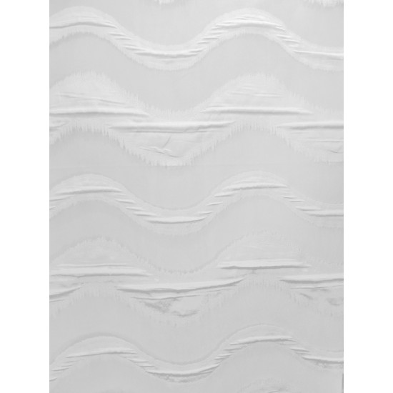 VAGUE voilage blanc - 290 cm - 100% polyester -...