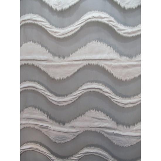 VAGUE voilage brun - 290 cm - 100% polyester -...