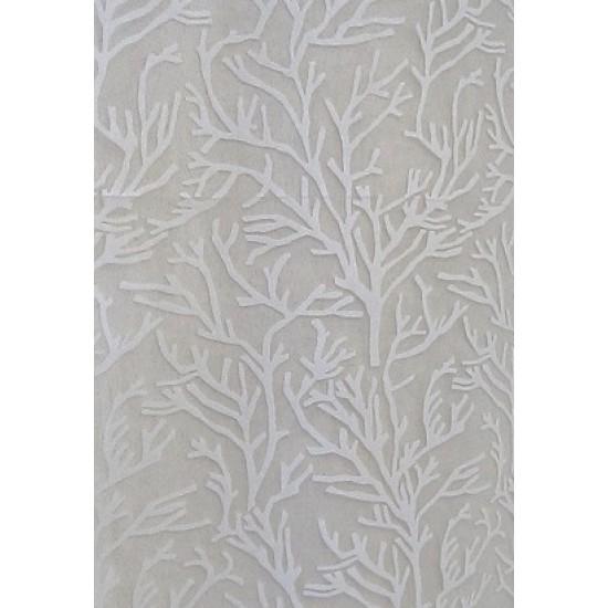 CORAIL voile blanc - imprimé coraux - 50%...