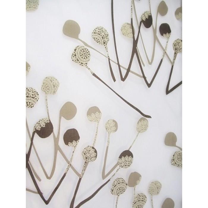 voilage beige et brun d coratif en 280 cm quebec decorsfabrics. Black Bedroom Furniture Sets. Home Design Ideas