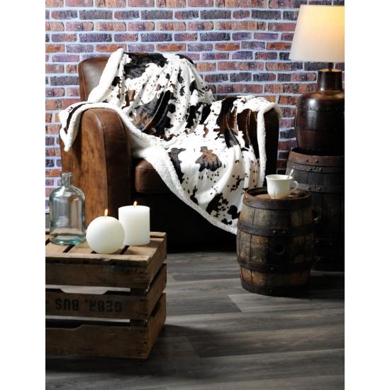 PLAID motif peau de vache - 130 x 150 cm