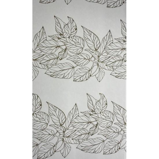 ANNA - tissu blanc imprimé  - 280 cm - 80% coton...